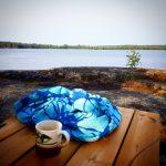Morgonkaffe med dopp vid Ålsjön